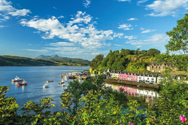 Isle of Skye, Scottish Highlands, Inner Hebrides, Portree Harbour