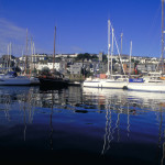 The sleepy boats in Falmouth Harbour