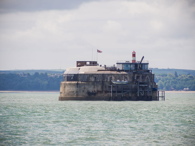 Spitbank Fort, Fort, Solent, Isle of Wight, British islands