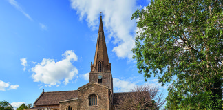 St Mary's Church, Bampton, was the setting for many key Downton Abbey scenes. credit: Martyn Ferry 2015/Getty Images