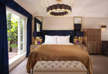 Studio suite bedroom at Flemings hotel, Mayfair