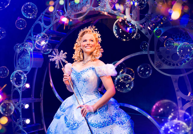 Suzie Mathers as Glinda in Wicked. Credit: Matt Crockett