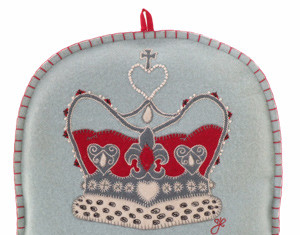 Jan Constantine hand-embroided tea cosy