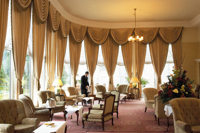 The Grand Hotel lounge
