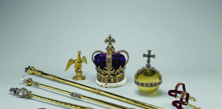 The Crown Jewels of England can be seen at the Jewel house at the Tower of London