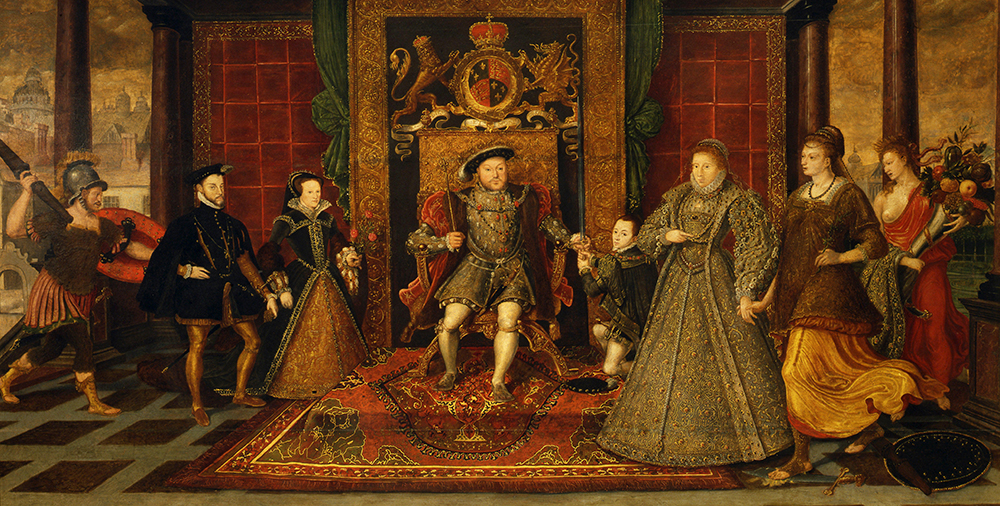 'The Family of Henry VIII, an allegory of the Tudor Succession' by Lucas de Heere c.1572. Credit: Lebrecht Music and Arts Photo Library/Alamy Stock Photo