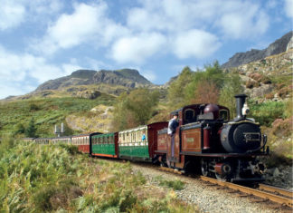 The Ffestiniog Railway, Wales from Small Island by Little Train. Image courtesy of F&WHR
