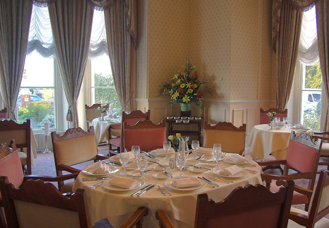 The Mirabelle Restaurant dining room at The Grand Hotel at Eastbourne