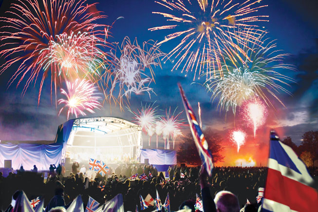 The Battle Proms firework finale