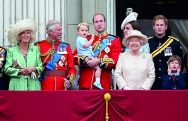 The Queen and members of the Royal Family watch the Trooping the Colour from the balcony of Buckingham Palace