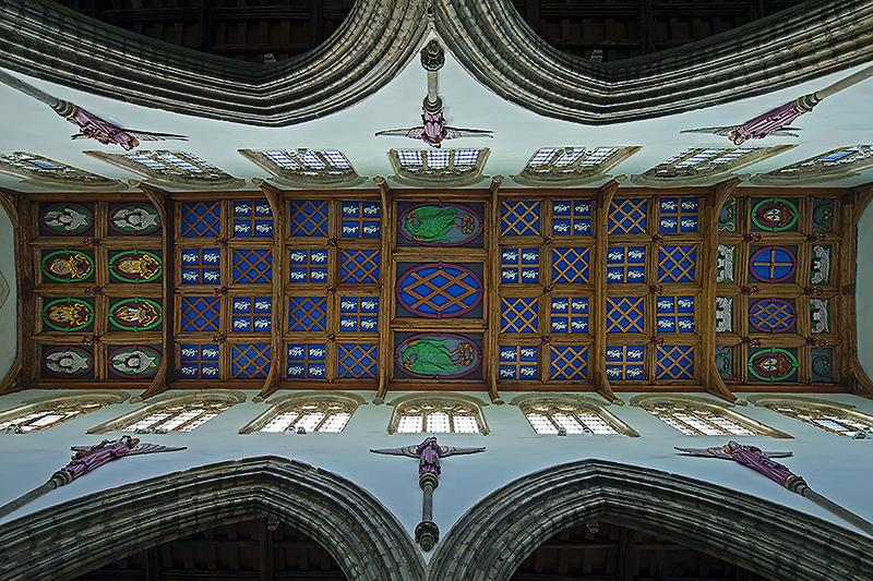 The ceiling of St Peter's Chapel, Auckland Castle. Photograph Graeme Peacock. Courtesy of The Auckland Project