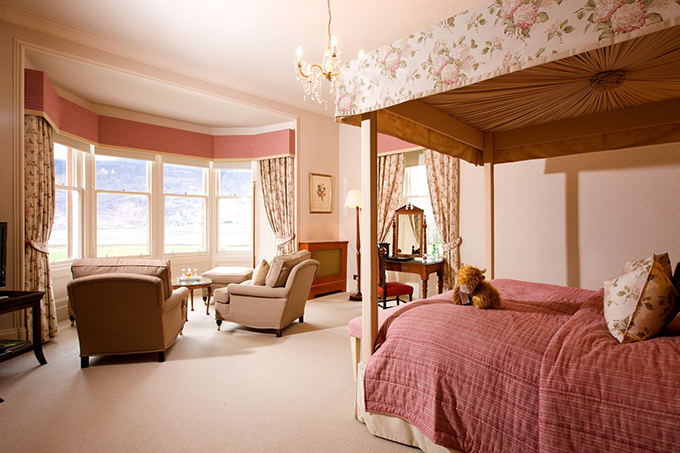 Torridon Scotland. Many of the bedrooms at the Torridon Hotel and Inn have views of Loch Torridon and the mountains beyond