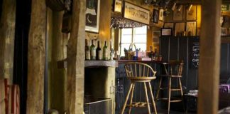 Traditional bar at the Anchor Inn, Hampshire | Cosy English Inns | Near Chawton, Jane Austen's Hampshire