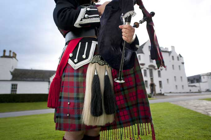 A traditional kilt and sporran. Credit: Visit Britain