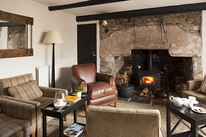 Tudor Farmhouse stay | cosy lounge in the Tudor Farmhouse, Clearwell, the Forest of Dean, Gloucestershire