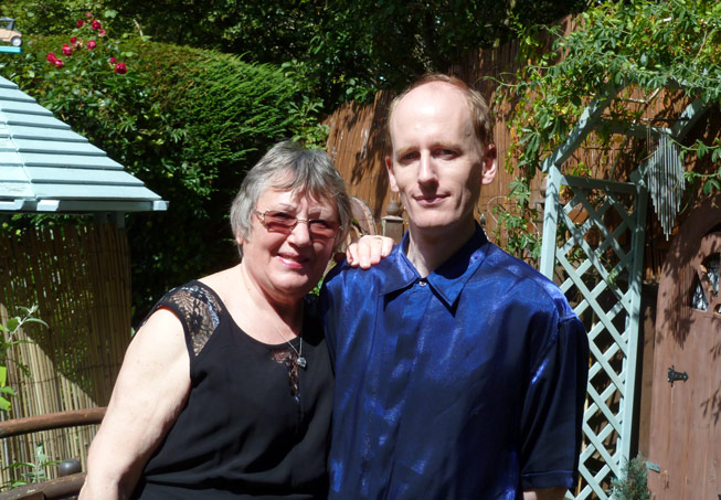 Matthew Lee and his mother Marion. Credit: MC Lee