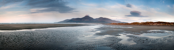 Murlough Nature reserve looking towards the Mourne Mountains, County Down, Northern Ireland. History of St Patrick's Day