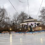 Ice rink at Winter Wonderland in Hyde Park, London. Credit: Visit Britain