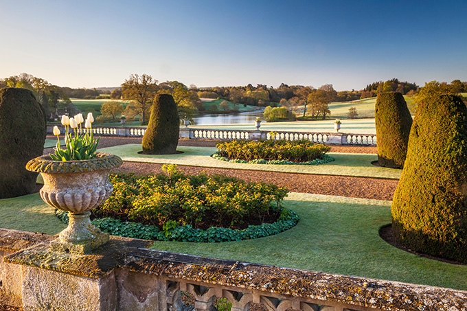 View from the terrace of Bowood House in Wiltshire. Credit: Anna Stowe Botanica/Alamy