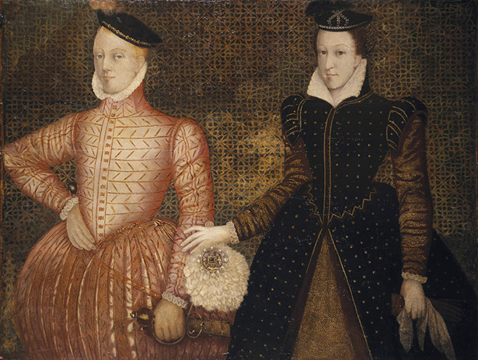 Mary, Queen of Scots with Lord Darnley. Life of Mary, Queen of Scots