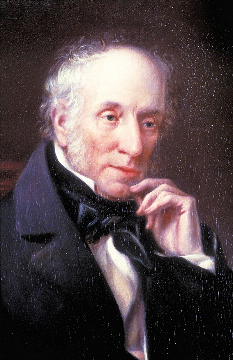 A portrait of Wordsworth at Dove Cottage