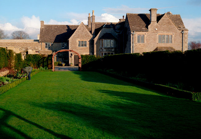 The gardens at Whatley Manor