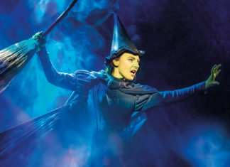 Willemijn Verkaik as Elphaba, the Wicked Witch of the West. Credit: Matt Crockett