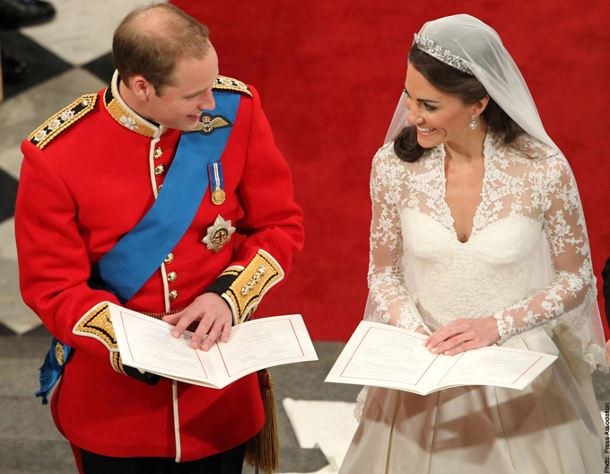 Prince William Kate Middleton Exchanging Vow Royal Wedding
