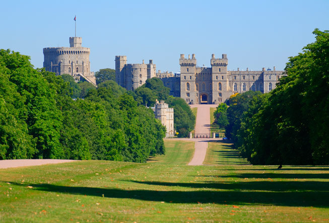 Windsor Castle, Windsor Great Park, Berkshire. Castle in England