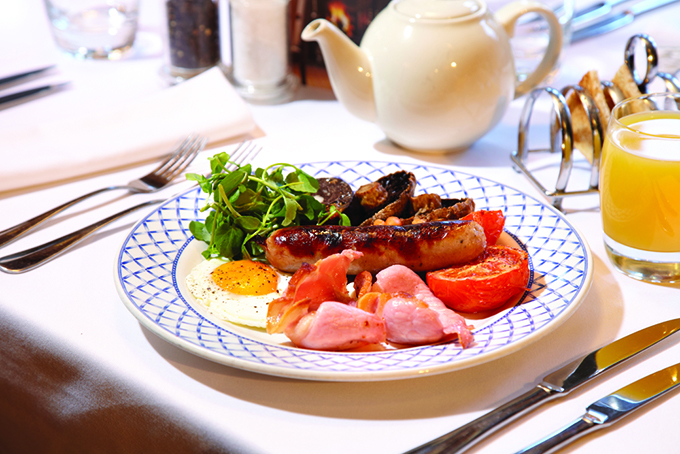 Tuck in to a full Yorkshire breakfast at the Shibden Mill Inn