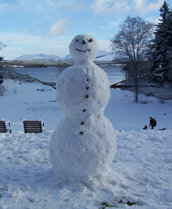 Snowman at Ardanaiseig