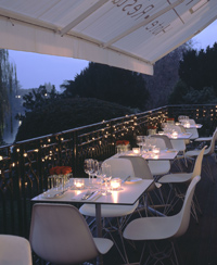 Dine outside on the Bingham balcony