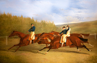 Finish of the 1833 Goodwood Cup by J F Herring Snr