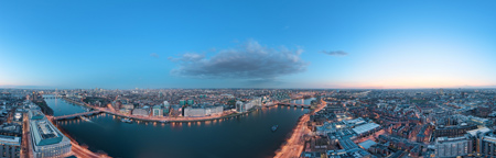 Panoramic views from the top of Millbank Tower