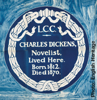 Charles Dicken Blue Plaques
