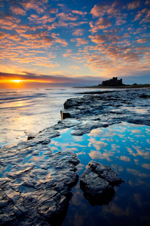 Autumn sunrise at Bamburgh Castle, Adam BurtoAutumn sunrise at Bamburgh Castle, Adam Burto