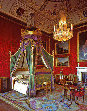 The King's bedchamber at Windsor Castle