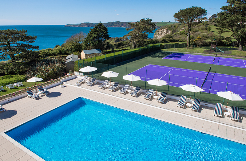 Carlyon Bay's outdoor pool