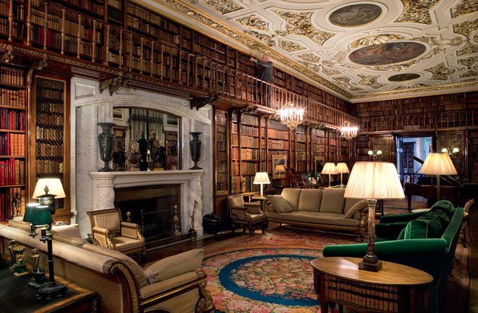 Chatsworth House Library