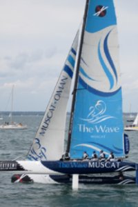 The shoreline at Cowes Week on Saturday 6 August
