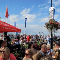 Crowds gather for the 185th annual Cowes Week