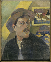 Self-portrait with Manao tu papau 1893