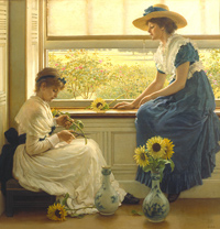 Sun and moon flowers by George Dunlop Leslie 1889