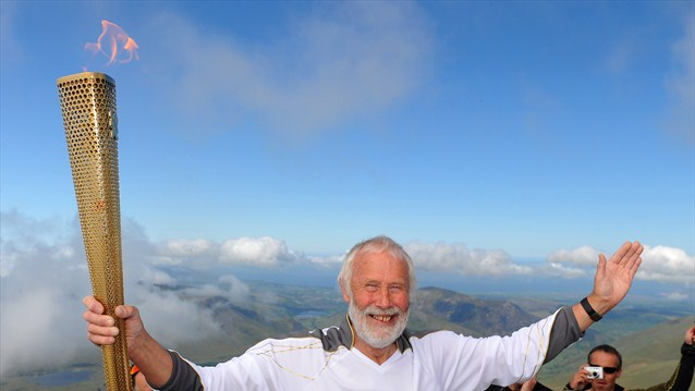Sir Chris Bonington Olympic Torch Snowdon
