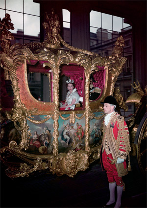 Her Majesty leaves Buckingham Palace for her Coronation, June 1953