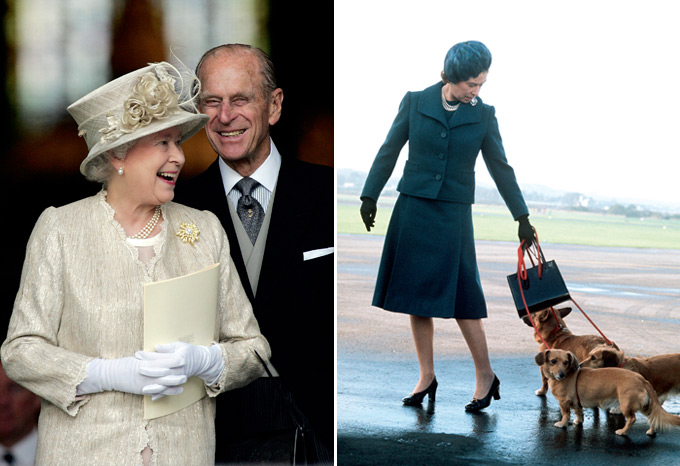 The Queen and The Duke of Edinburgh at St Paul's Cathedral, June 2006 / The Queen arrives at Aberdeen Airport, June 1974
