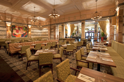 The grand interior of Boyds Brasserie
