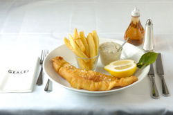 A fish and chip feast at Geales