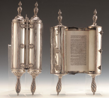 Torah scroll 1766-1767 at the Jewish Museum