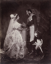 Roger Fenton, The Queen and Prince Albert, Buckingham Palace, 1854